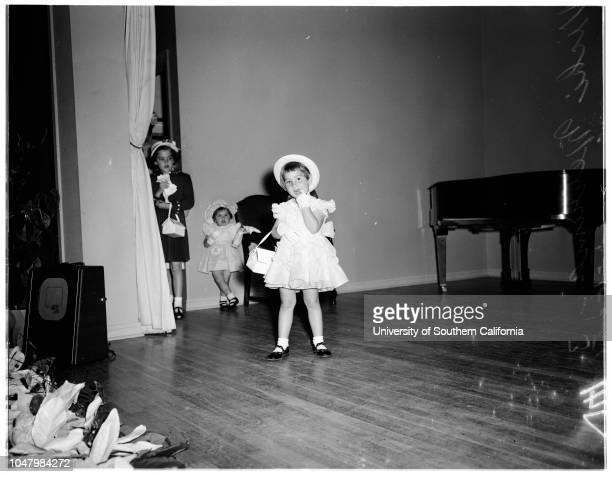 Tot fashion show May 18 1951 Susan Zimmerman 4 yearsEleanor Zimmerman Patricia Zimmerman 7 yearsJanice GearhardtRasalie McDermottMark Duesler 3...