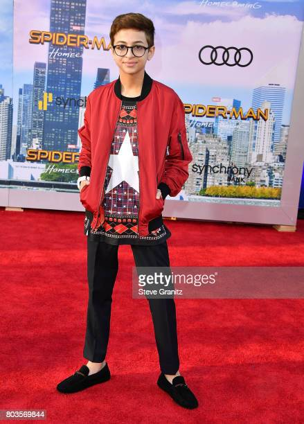 J Totah arrives at the Premiere Of Columbia Pictures' SpiderMan Homecoming at TCL Chinese Theatre on June 28 2017 in Hollywood California