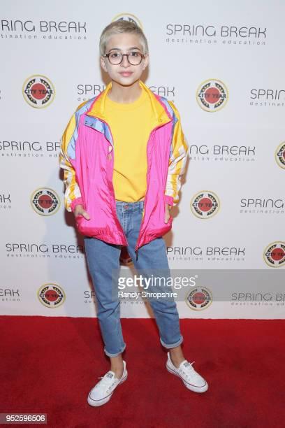 J Totah attends City Year Los Angeles' Spring Break Destination Education at Sony Studios on April 28 2018 in Los Angeles California