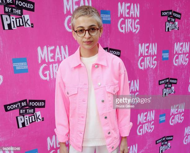 J Totah poses at the arrivals for the opening night of the new musical based on the cult film Mean Girls on Broadway at The August Wilson Theatre on...