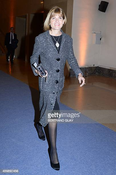 Total, Eads, Vodafone and GDF Suez board member Anne Lauvergeon arrives for a dinner with Sweden's King Carl XVI Gustaf at the Palais de Chaillot in...