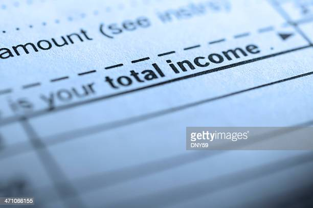total income - 1040 tax form stock photos and pictures