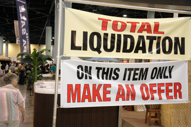 A total liquidation banner at the Home Design and Remodeling Show at on home makeover shows, home decorating shows, home craft,