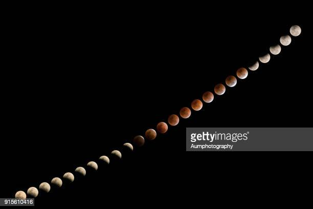 total lunar eclipse in thailand january 31,2018 - lunar eclipse stock pictures, royalty-free photos & images