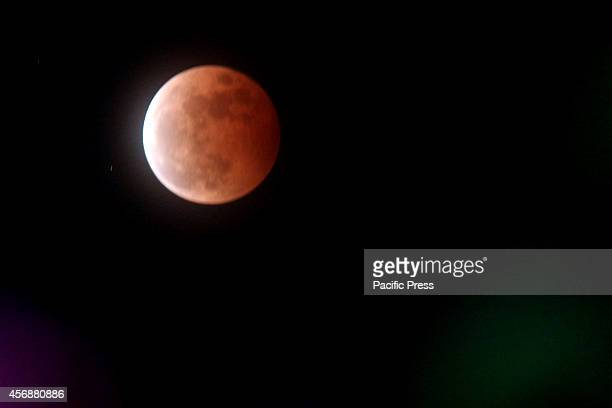 A total lunar eclipse or 'Red Moon' was seen in Philippines for the second time this year