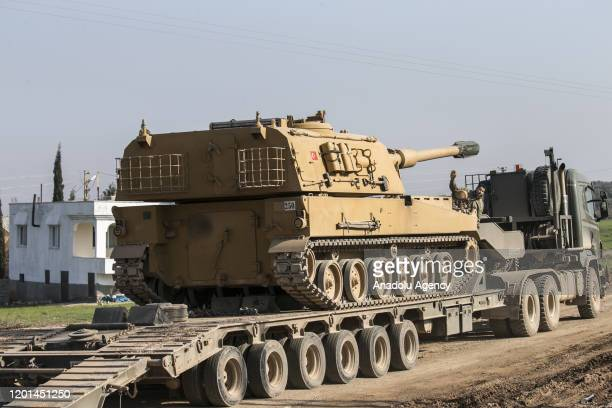 Total of 150 military vehicles of Turkish Armed Forces' are being deployed to Syria border as reinforcements, including howitzers, tanks, ammunition,...