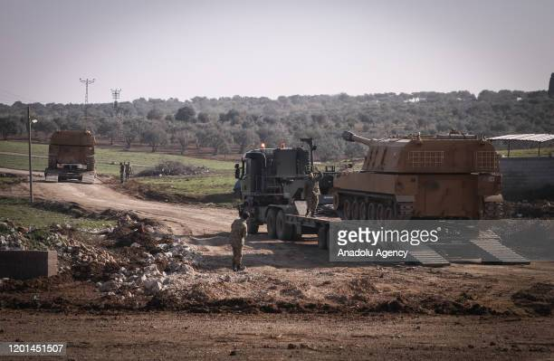 Total of 150 military vehicles of Turkish Armed Forces' pass through Reyhanli district of Turkey's Hatay as they are being deployed to Syria border...