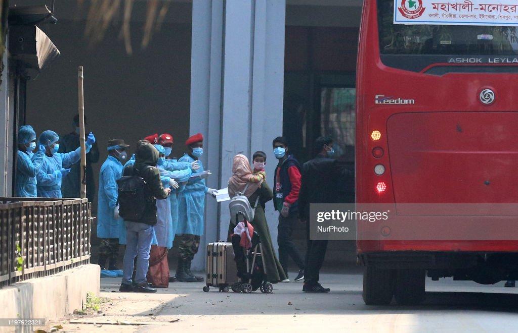 Coronavirus Threat Fetch 316 People To Bangladesh : News Photo