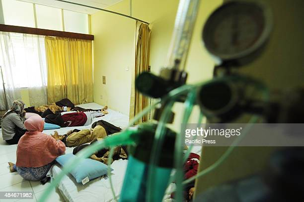 LHOKSEUMAWE ACEH INDONESIA A total of 72 high school students are treated at Arun Lhokseumawe Modal Bangsa Intensive treatment for nausea dizziness...