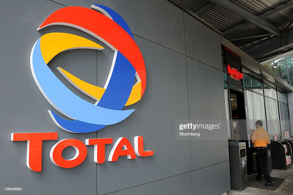 Total Gas Station And Company Headquarters : News Photo