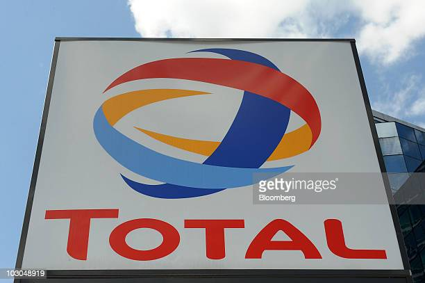 A Total SA logo is seen at a gas station in Paris France on Thursday July 22 2010 The company Europe's biggest oil refiner releases its earnings next...