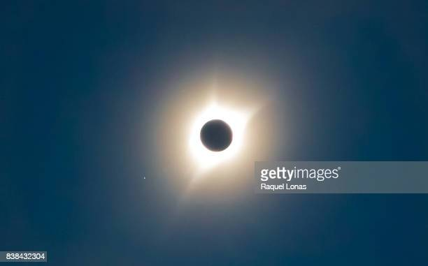 total solar eclipse 2017 - mercury planet stock photos and pictures