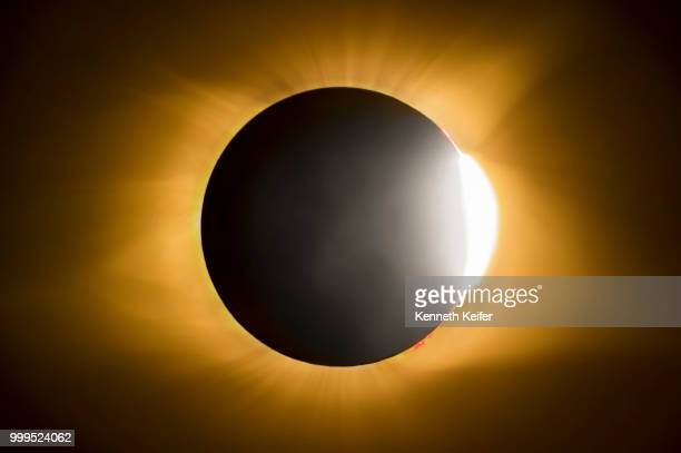 Total Solar Eclipse Diamond Ring Effect