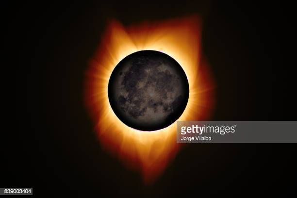 2017 total solar eclipse in the united states of america - annular solar eclipse stock pictures, royalty-free photos & images