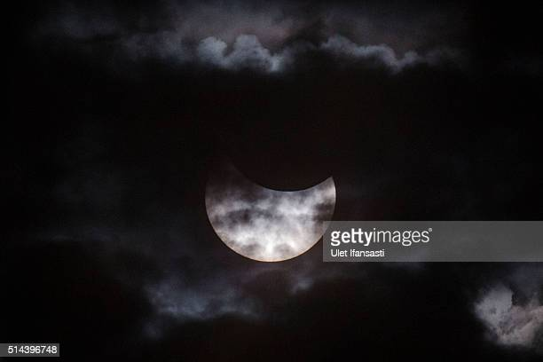 A total solar eclipse is seen from Palembang city on March 9 2016 in Palembang South Sumatra province Indonesia A total solar eclipse swept across...