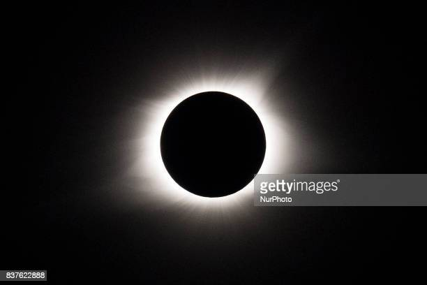 A total solar eclipse occurs on August 21 at Mary's River Covered Bridge in Chester IL USA