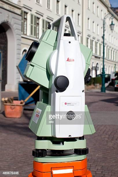 total estação, tachymeter - leica camera - fotografias e filmes do acervo