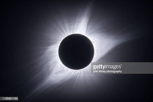 totality corona detail, taken in wyoming, usa - solar system stock pictures, royalty-free photos & images