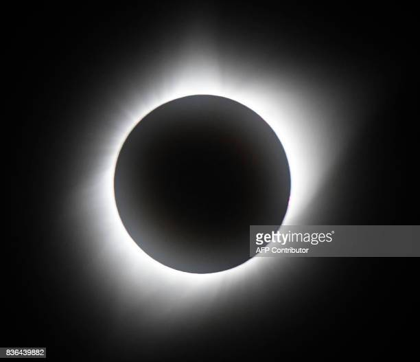 TOPSHOT Totality of the Great American Eclipse on August 21 at Casper Collage Wyoming The total eclipse lasted 2 min and 30 sec Emotional skygazers...