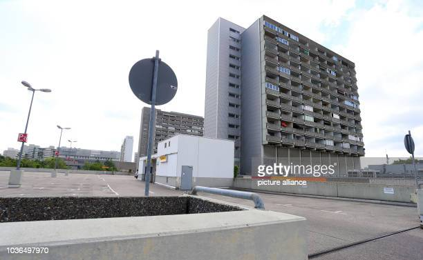 A totally empty parking lot at the Olympia shopping centre two day after a shooting with deaths and casualties in MunichGermany 24 July 2016 An...