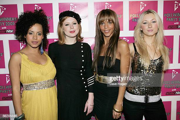 Totally Frank actresses Helena Dowling Bryony Afferson Lauren Blake and Hayley Wardle pose in the press room at the T4 Poll Winners' Party 2005 With...