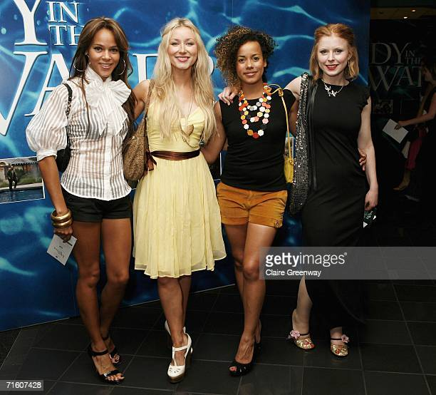 Totally Frank actresses Lauren Blake Hayley Wardle Helena Dowling and Bryony Afferson arrive at the UK premiere of Lady In the Water at Vue West End...