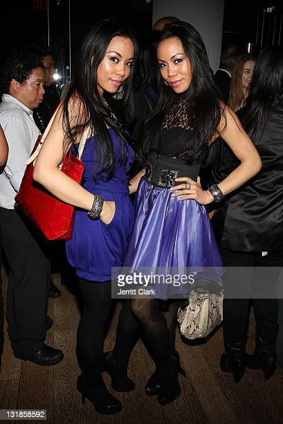 ToTam and ToNya TonNu of Sachika attend a Hennessey Black party to celebrate DJ DNice signing to Roc Nation DJ's at The Cooper Square Hotel on...