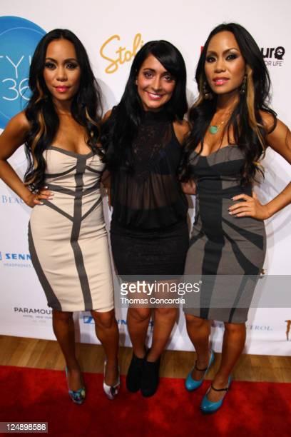 To-Tam Sachika, Angelina Pivarnick and To-Nya Sachika attend Style 360 Presents Sachika Fashion Show at Metropolitan Pavilion on September 13, 2011...