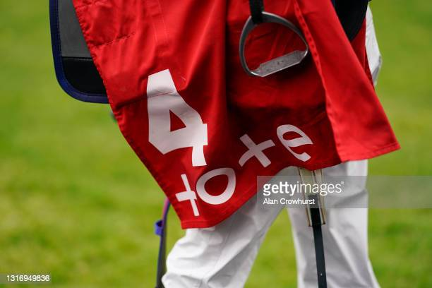 Tote branding at Ascot Racecourse on May 08, 2021 in Ascot, England. Only owners are allowed to attend the meeting but the public must wait until...