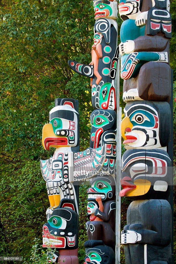 Totem poles : Stock Photo