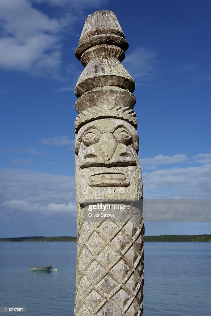Totemic Poll St Maurice Bay Stock Photo | Getty Images