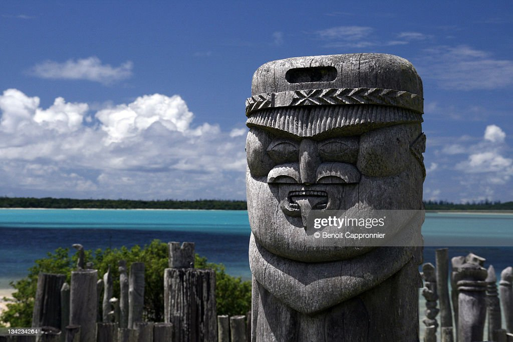 Totems from Isle of Pines : Stock Photo