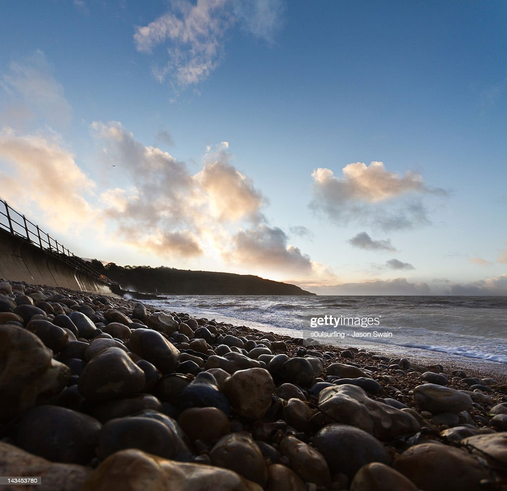 Totland bay blues : Stock Photo