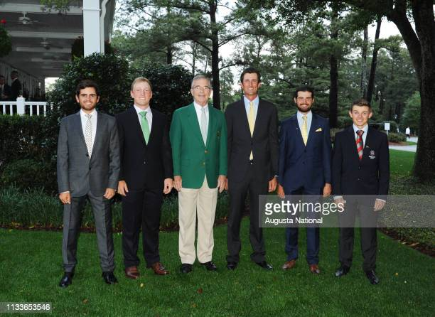 Toto Gana of Chile Brad Dalke Chairman of Augusta National Golf Club and the Masters Tournament Billy Payne Stewart Hagestad Curtis Luck of Australia...