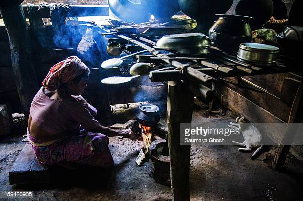 Toto people belong in Indo-Bhutanese tribal community. It is a very primitive inhabitance, considered as Mongoloid people. A traditional Toto hut...