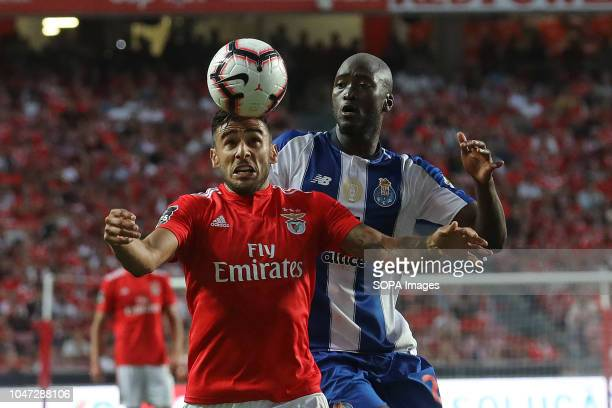 Toto Salvio of SL Benfica with Danilo Pereira of FC Porto seen in action during League NOS 2018/19 football match between SL Benfica vs FC Porto