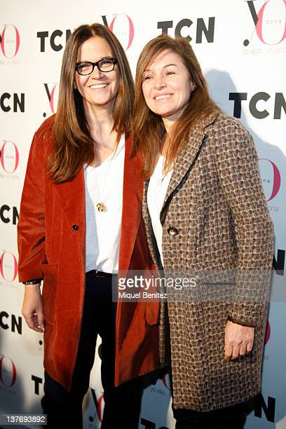 Toton Comella and Candela Tiffon attend the TCN's photocall on January 25 2012 in Barcelona Spain