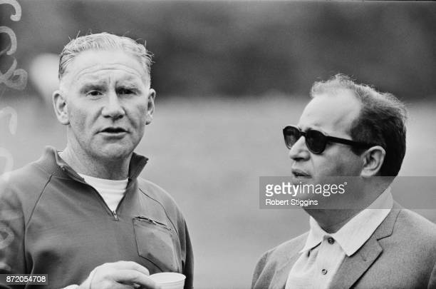 Totteneham Hotspur FC manager Bill Nicholson with Italian football agent Gigi Peronace UK 28th July 1967