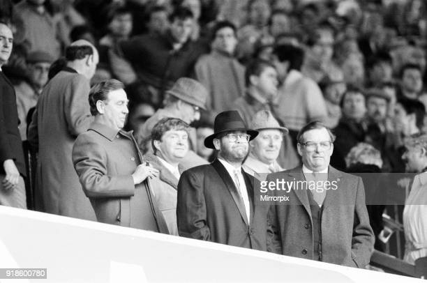 Tottenham 41 Watford FA Cup semi final match at Villa Park Saturday 11th April 1987 Elton John Chairman Watford FC