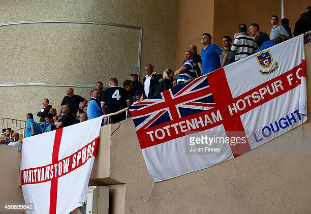 Tottenham fans look on ahead of the UEFA Europa League group J match between AS Monaco FC and Tottenham Hotspur FC at Stade Louis II on October 1...