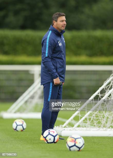 Tottenham first team coach Miguel D'Agostino during the Tottenham Hotspur training session at Tottenham Hotspur Training Centre on August 8 2017 in...