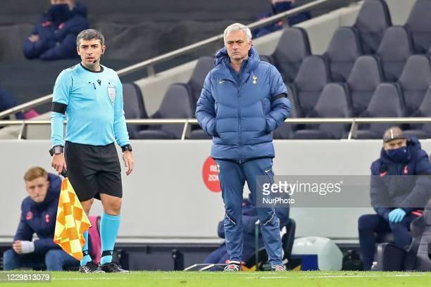 Tottenham Head Coach Jose Mourinho during the UEFA Europa League Group J match between Tottenham Hotspur and PFC Ludogorets Razgrad at the Tottenham...