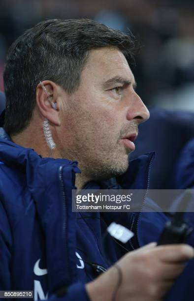 Tottenham head coach Miguel D'Agostino during the Carabao Cup Third Round match between Tottenham Hotspur and Barnsley at Wembley Stadium on...