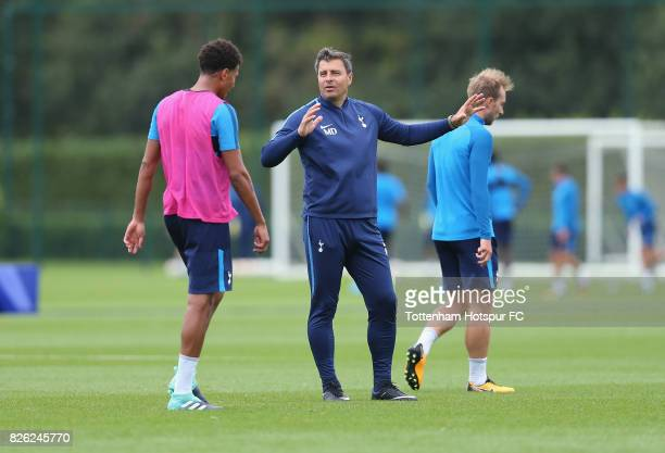 Tottenham head coach Miguel D'Agostino during the Tottenham Hotspur training session at Tottenham Hotspur Training Centre on August 2 2017 in Enfield...