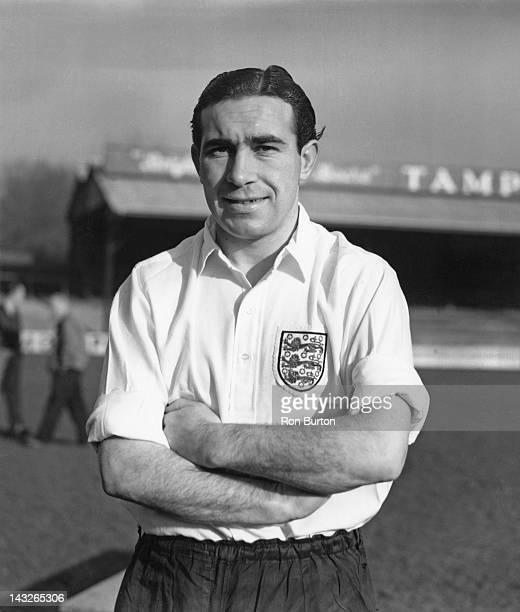 Tottenham Hotspur and England footballer Alf Ramsey in an England shirt 28th November 1949