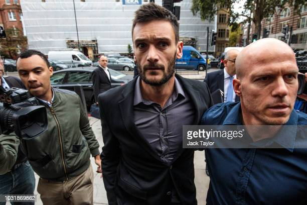 Tottenham Hotspur and French National goalkeeper Hugo Lloris arrives at Westminster Magistrates' Court charged with drink driving on September 12...