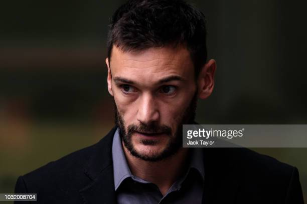 Tottenham Hotspur and French National goalkeeper Hugo Lloris leaves Westminster Magistrates' Court after pleading guilty to drink driving on...
