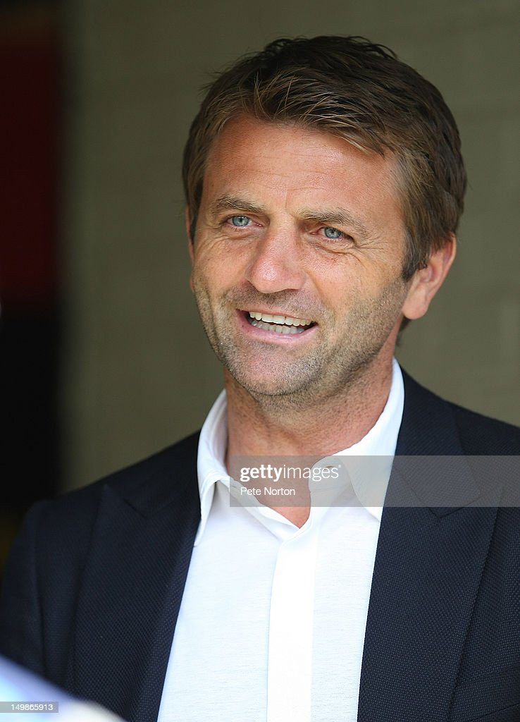 Tottenham Hotspur assistant first team coach Tim Sherwood looks on prior to the pre-season friendly match between Watford and Tottenham Hotspur at Vicarage Road on August 5, 2012 in Watford, United Kingdom.