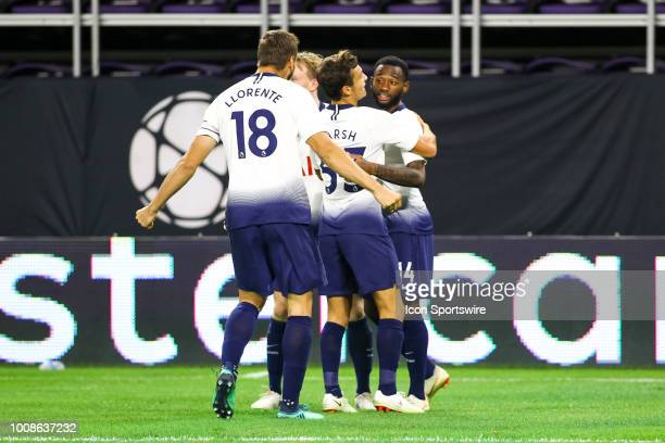 Tottenham Hotspur celebrates after midfielder Georges-Kévin Nkoudou scored in the 2nd half to make it 1-0 during the International Champions Cup...