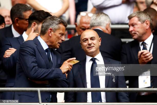 Tottenham Hotspur Chairman Daniel Levy looks on prior to the Premier League match between Tottenham Hotspur and Fulham FC at Wembley Stadium on...